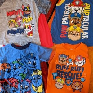 Paw Patrol Shirt Bundle Boys Size 3T